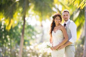 Bride and Groom at Destination Wedding in Dominican Republic
