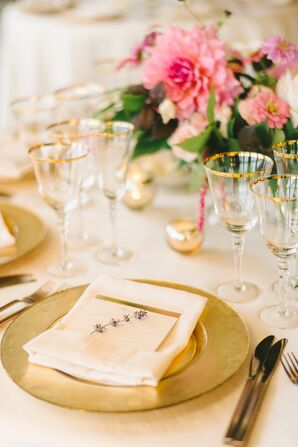 Gold Lavender-Accented Place Settings