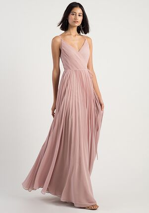 Jenny Yoo Collection (Maids) Kimi V-Neck Bridesmaid Dress