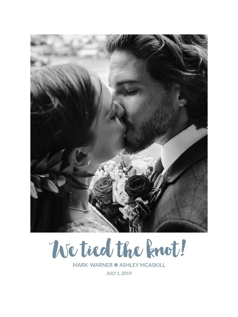 East Bay Design Co wedding or elopement announcement