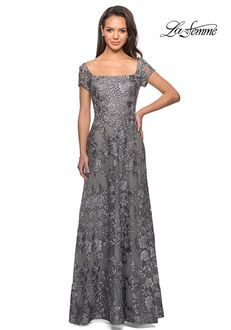 La Femme Evening 26582 Brown Mother Of The Bride Dress
