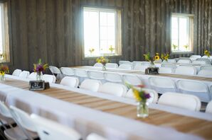 Simple Barn Reception at Renyer's Pumpkin Farm