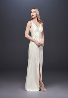 David's Bridal DB Studio Style DS870058 Sheath Wedding Dress