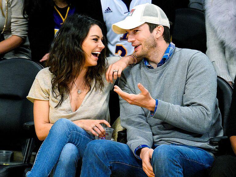 Ashton Kutcher and Mila Kunis famous celebrity couples