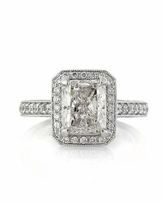 Mark Broumand Vintage Radiant Cut Engagement Ring