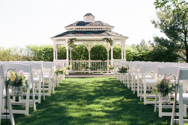 Red Barn at The Outlooks Farm Outdoor Ceremony