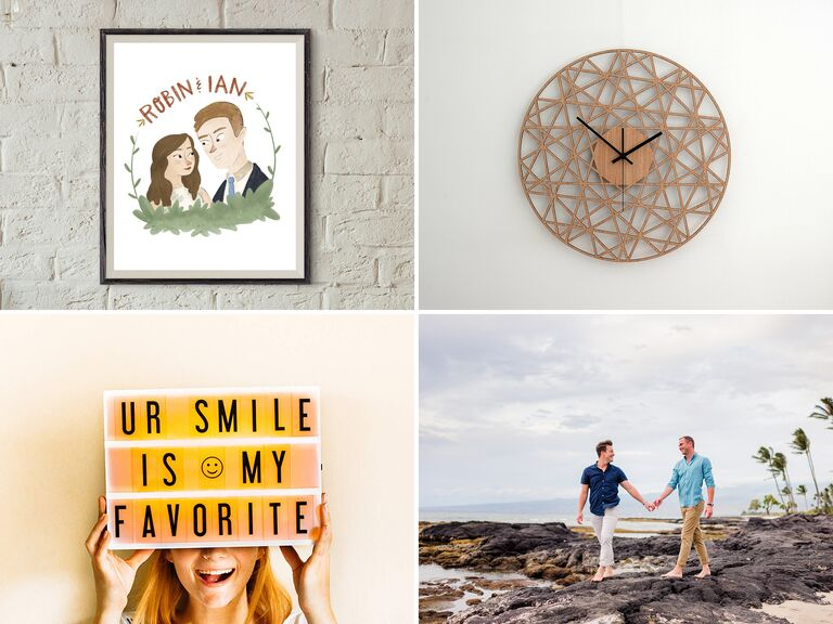 First anniversary gift ideas & 1-Year Anniversary Gifts for Him Her and the Couple