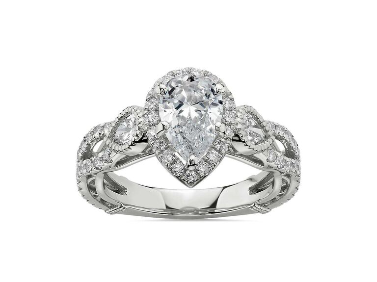 Blue Nile Bella Vaughan for Blue Nile Scia diamond engagement ring in in platinum