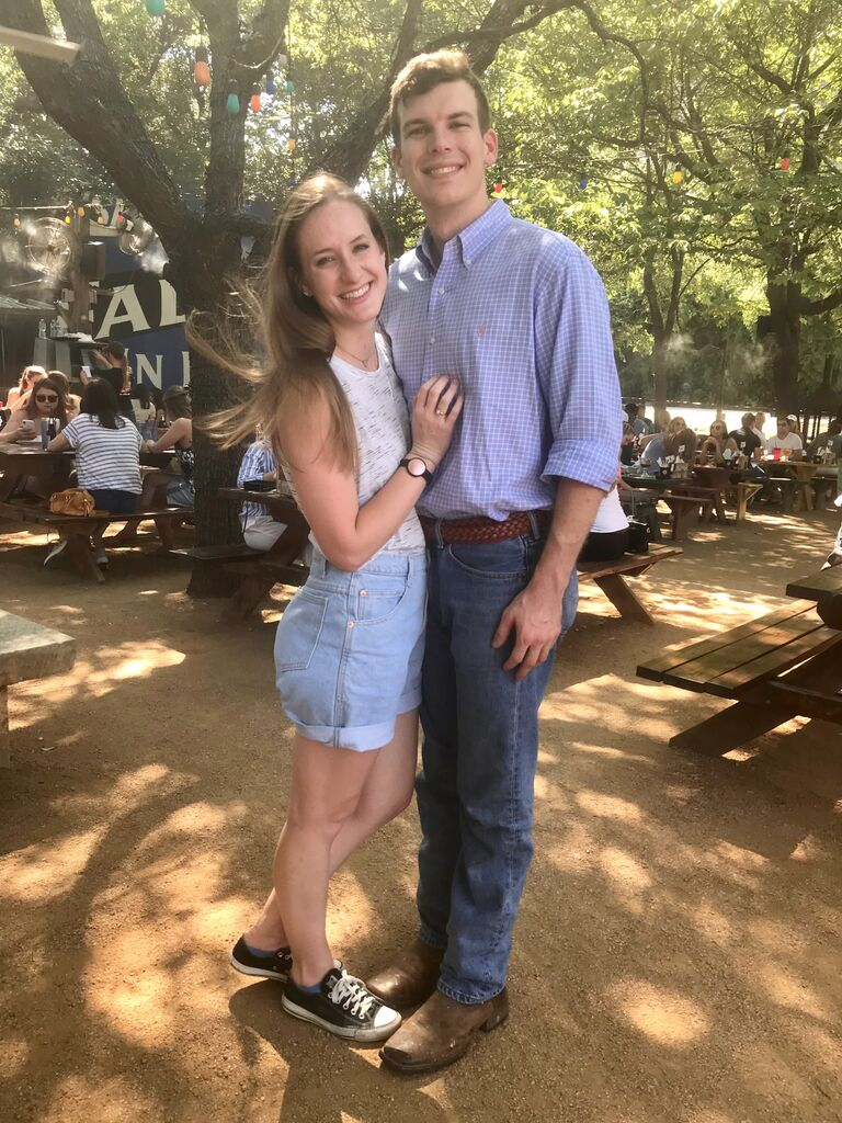 """After a couple of months of dating, Stewart and I spent the summer """"long-distance"""" while he was in Waco studying for the LSAT and I worked in Dallas. Luckily, it was a pretty short commute so we didn't miss each other too much."""