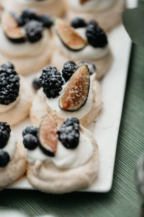 Pavlovas with Berries and Figs