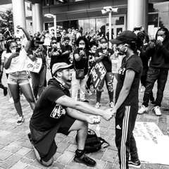 "Couple Gets Engaged at Black Lives Matter Protest: ""Love Conquers All"""