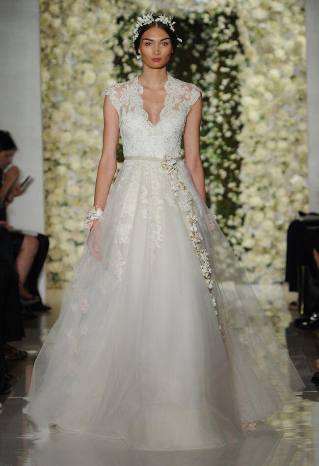 4b956149b7e Reem Acra Wedding Dresses Fall 2015 | Maria Valentino/MCV Photo |  Blog.theknot