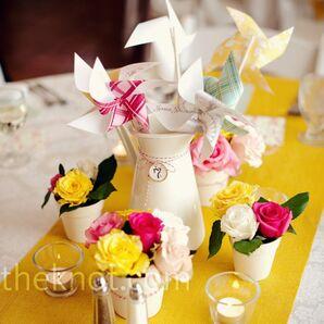 Floral and Pinwheel Centerpieces