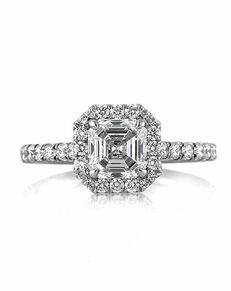 Mark Broumand Classic Asscher Cut Engagement Ring