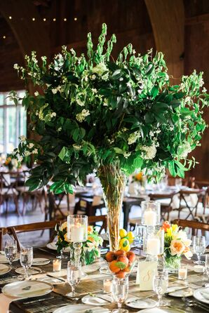 Tall Tree-Inspired Centerpieces