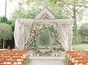 Romantic Circular Altar with Draping