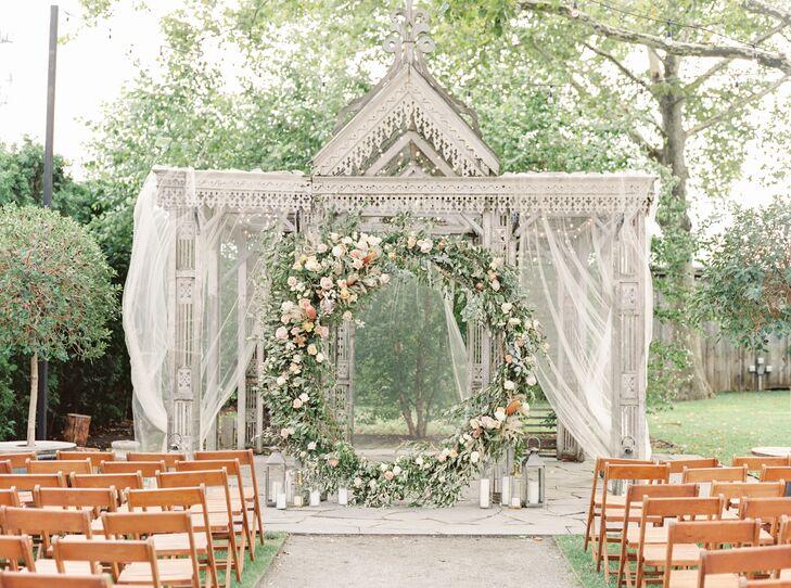 Romantic Circular Altar with Draping