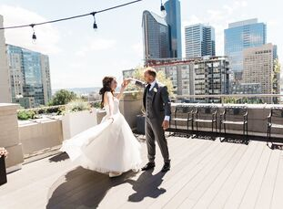 To infuse their summer wedding in Seattle with a memorable touch, Rachel Drapeau and Mike Gough decided to create their own rituals and traditions. Th