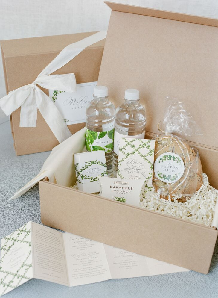 Preppy Welcome Box with Greenery Illustrations