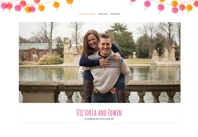 Victoria Edwin Wedding Website