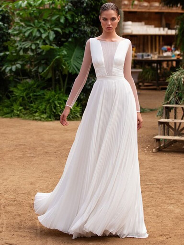 Zac Posen for White One long sleeve A-line dress