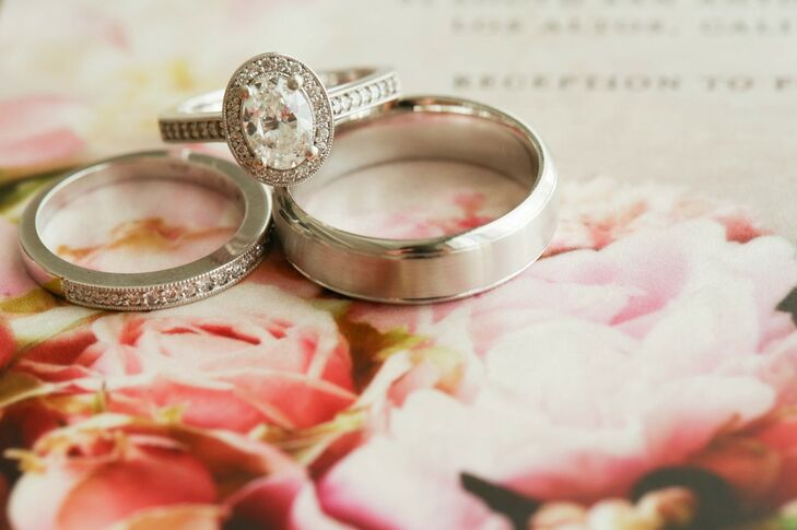 Traditional Silver Engagement and Wedding Rings