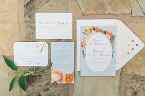 Elegant, Garden-Inspired Invitation Suite