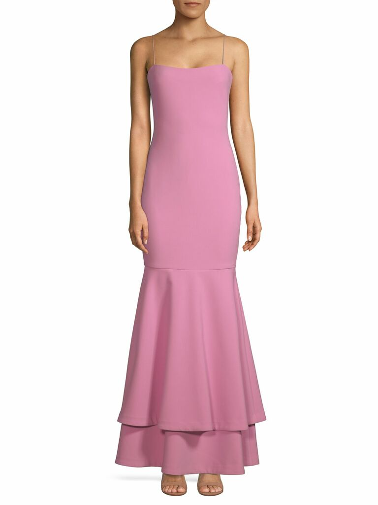 Pink mermaid Likely spring bridesmaid dress