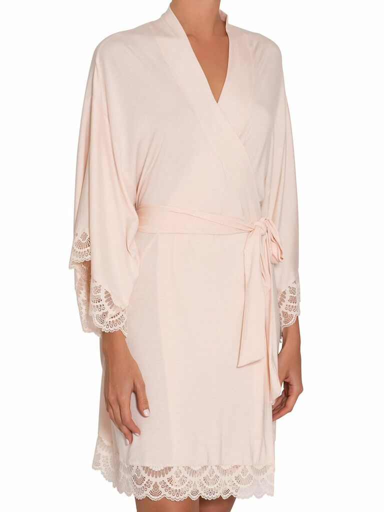 blush bridal robe gift for fiance