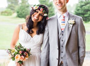 Sophia Noor (26 and a graduate student) and Jake Kiser (30 and a global education director) always loved muted rose and gold affairs and crazy, colorf