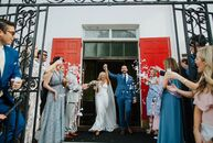 """Tessa Barone and Matt DiLeo had an """"untraditional"""" two-day wedding in Charleston, South Carolina. On Friday evening, they had an intimate church cerem"""