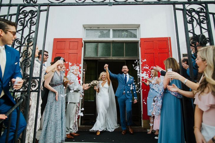 "Tessa Barone and Matt DiLeo had an ""untraditional"" two-day wedding in Charleston, South Carolina. On Friday evening, they had an intimate church cerem"