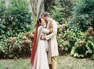 "Given that Sonia is Indian and Nick isn't, the couple wanted to host an Indian-fusion wedding that reflected ""both of our backgrounds and where we com"