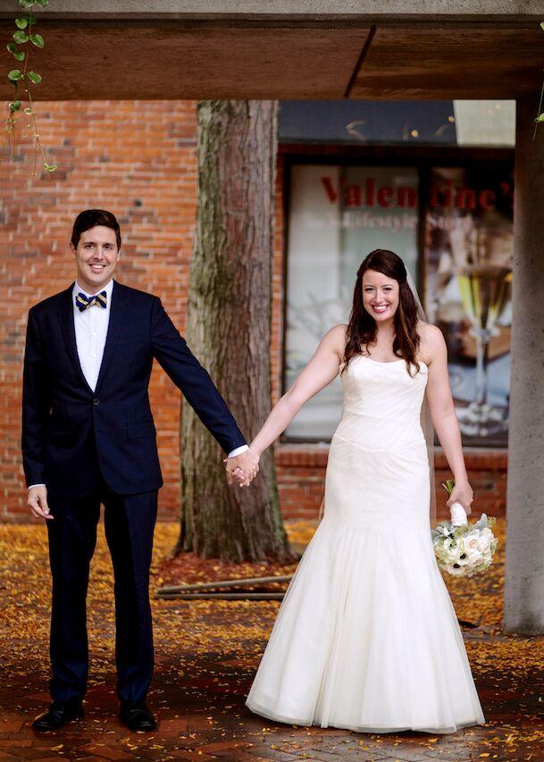 Tradd Davidson, 28, an attorney, married Stephanie Faulk, 29, also an attorney, in an elegant wedding at The Phoenix Room in Newburyport, Massachusett