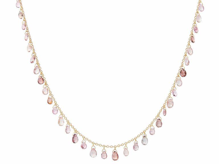 tourmalines necklace eighth anniversary gemstone