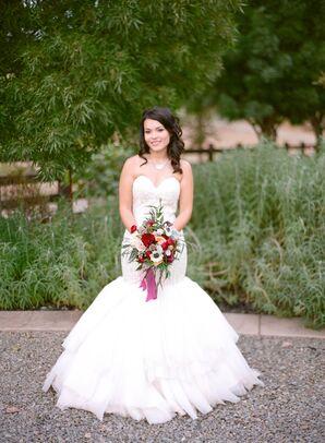 Elegant Mermaid-Style Wedding Gown