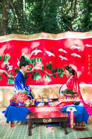 Traditional Korean Paebaek Ceremony