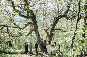 Rustic and Natural Ceremony in Forest