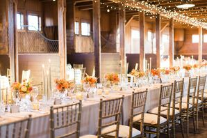 Gold Chiavari Chairs and Romantic Taper Candles