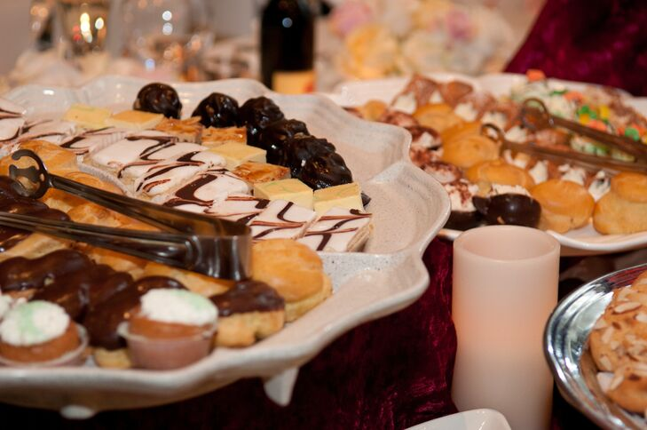 A table of delicious desserts was offered to guests during dinner.