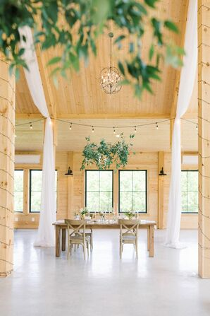 Reception Decor and Draping for Wedding at The Barn at Willow Brook in Leesburg, Virginia