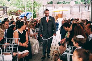 Groom Ceremony Entrance With Dog