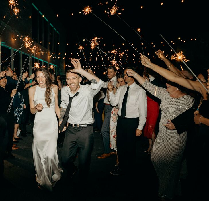 Traditional Sparkler Exit at Terra Gallery in San Francisco, California