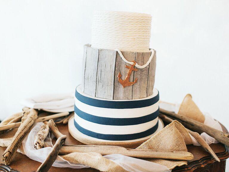 wedding cake nautical theme