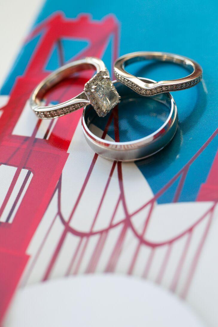 Silver Traditional Wedding Ring Set
