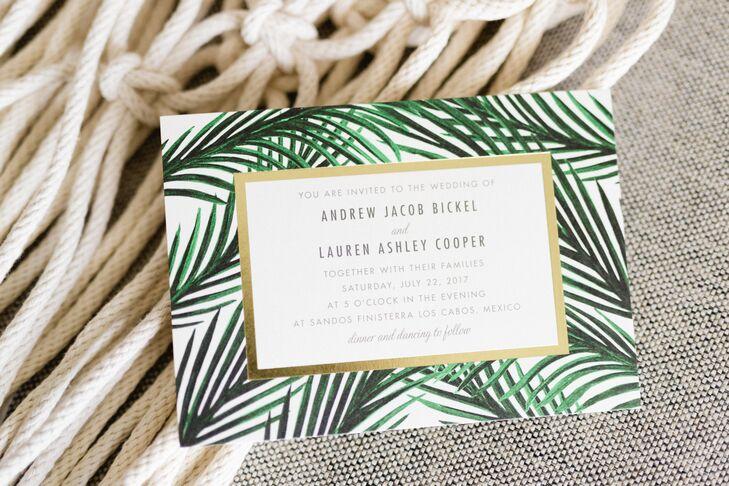 Modern Tropical Wedding Invitation