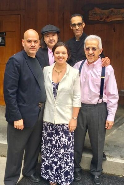 Vocalist Diana Rodriguez & the guys