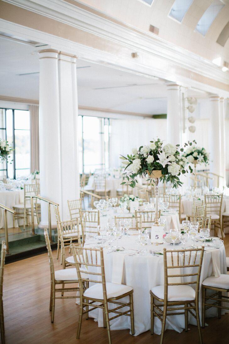 Classic White and Gold Riviera Ballroom Reception