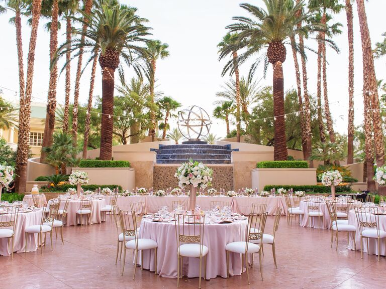 Wedding venue with palm trees