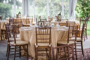 A Glamorous Gold Reception at Inn at Warner Hall